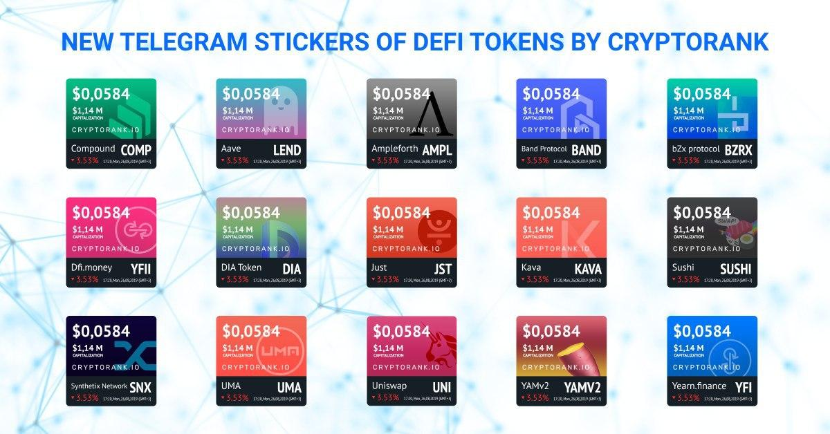 New DeFi Tokens Stickers